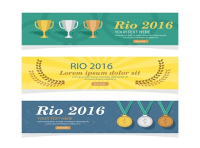 rio 2016 olympic games banner vector