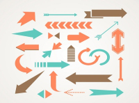 22 creative arrow design vector